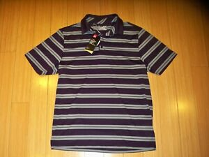 New NWT Mens Under Armour Golf Polo Shirt S S UMO5226 Medium Striped $19.49