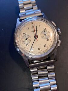 VINTAGE MENS SWISS HELBROS 17J TWO REGISTER CHRONOGRAPH WRISTWATCH WATCH Running $999.99