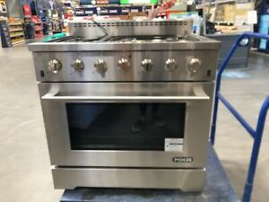 NXR SC3611LP 36 5.5 cu.ft. Pro Style Propane Gas Range with Convection Oven