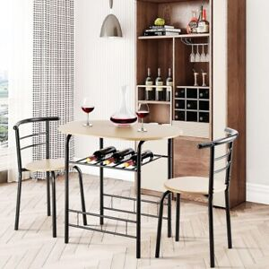 Marvelous 3 PCS Dining Set Table and 2 Chairs Home Kitchen Breakfast
