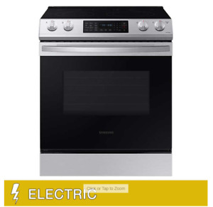 Samsung 6.3 cu. ft. Front Control Slide in Electric Range with Convection and W