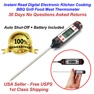 Instant Read Digital Electronic Food Meat Thermometer Kitchen Cooking BBQ Grill
