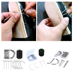 Curved Needles Leather Embroidery Sewing Hand Wig Making Needles with Case $8.99