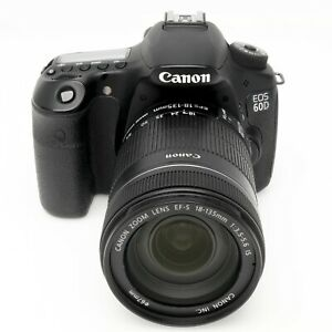 Canon 60D 14k Act with 18 135mm f3.5 5.6 STM IS Lens Boxed