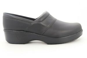 Abeo Flora Clogs Slip Resistant Black Womens Size 7.5 Metatarsal Footbed $40.00
