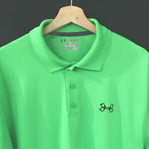 Under Armour golf polo shirt Size XL Heather Loose Fit Green Short Sleeve $29.99