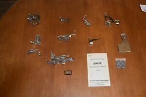 SINGER FEATHERWEIGHT SEWING VINTAGE MACHINE FEET AND ACCESSORIES C $175.00