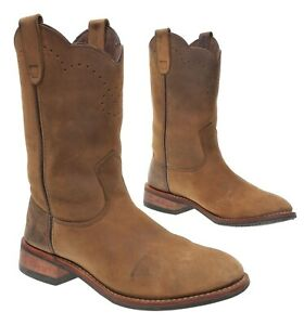 Bone Dry REDHEAD Boots 10 M Womens Brown Leather Waterproof Hunting Cowboy Boots