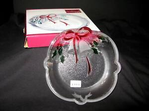 """NIP CELEBRATIONS by Mikasa – 7"""" Sweet Dish – Holiday Bells Collection – Japan"""