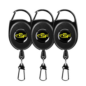 SF Fly Fishing Zinger Retractor Fly Fishing Anglers Tool Gear Combo Steel Cord #