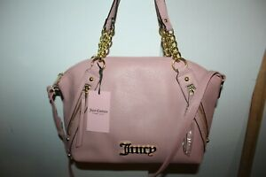 NWT JUICY COUTURE TAFFY ZIPPERED UP SATCHEL CROSSBODY BAG PINK PURSE