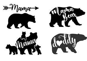Mama bear SVG vector DXF numbers for print laser cut $3.00