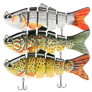 Fishing Lures for Bass Trout Lures Multi Jointed Swimbaits Slow Sinking Bionic
