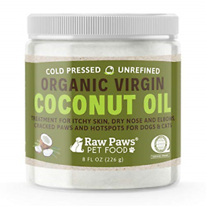 Raw Paws Organic Coconut Oil for Dogs amp; Cats 8 oz Treatment for Itchy Skin amp;