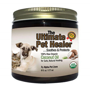 ALPHA PET ZONE Coconut Oil for Dogs amp; Cats Treatment for Itchy Skin Dry Paws 6