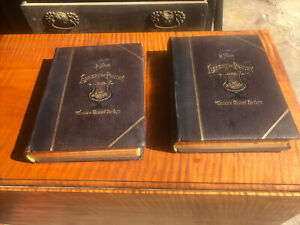 BIG LEATHER BOOKS LIBRARY OF POETRY AND SONG SET w Edgar Allan Poe quot;THE RAVENquot;
