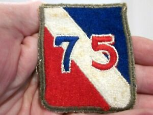 VTG WORLD WAR II US ARMY SSI PATCH 75TH INFANTRY DIVISION SNOW BACK CUT EDGE $14.99