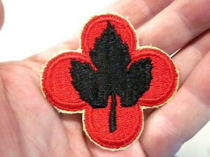 VTG WORLD WAR II US ARMY SSI PATCH 43RD INFANTRY DIVISION SNOW BACK CUT EDGE $9.74