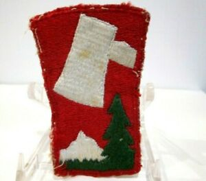 VTG WORLD WAR II US ARMY SSI PATCH 70TH INFANTRY DIVISION SNOW BACK CUT EDGE $11.24