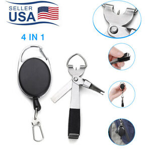 US Quick Knot Tying Tool Fly Fishing Clippers Line Cutter Nippers Knotter Zinger