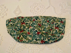 Longaberger Long Tissue Basket Fabric Cloth Liner Traditional Holly Christmas $29.00