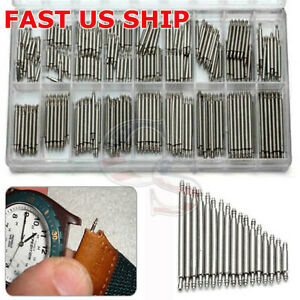 360pcs Watch PINS SPRING BARS Band Strap Link 8 25mm Repair Kit Stainless Steel $5.95
