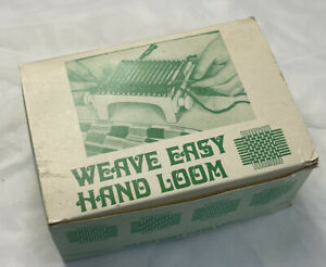 Weave Easy Hand Loom In Box Instructions Hong Kong Green Vintage 1970s $19.99