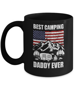 BEST CAMPING DADDY EVER USA FLAG FATHER#x27;S DAY GIFT MUG