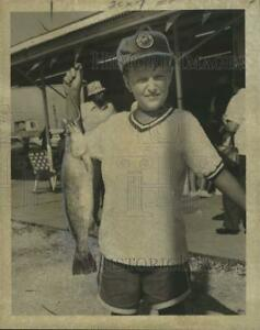 1975 Press Photo Kevin Liebkemann at the Lures #x27;N Liars Family Fishing Rodeo