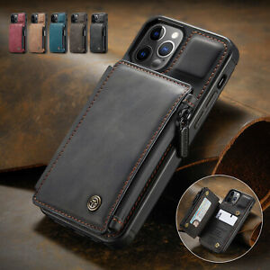 For iPhone 12 11 Pro Max XR XS 78 SE Leather Wallet Card Holder Stand Flip Case $10.20