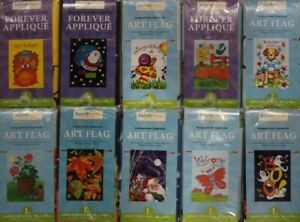 Lot of 10 Large Yard Art Flags Summer Fall Winter Spring Holiday 28quot; x 40quot; $39.99