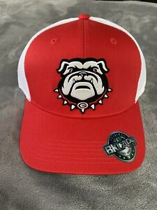 GEORGIA BULLDOGS EMBROIDERED UGA DAWG MASCOT LOGO PATCH HAT RED TRUCKER NEW $12.00
