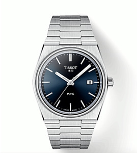 Tissot PRX 40mm Watch T137.410.11.041.00 Date Stainless Blue Dial Box amp; Papers