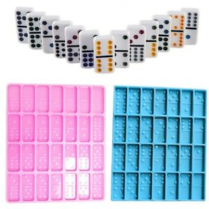 Dominoes Mold for Resin 28 Cavities Epoxy Making Craft DIY Silicone Molds Tool