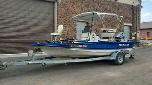 PROMASTER TOURNAMENT CENTER CONSOLE 185 BASS FISHING BOAT 115hp TRAILER TROLLING