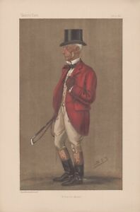 Antique Vanity Fair Fox Hunter Lithographquot;A Very Old Masterquot; 1896 $45.00