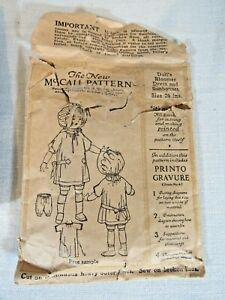 McCall Antique Sewing Pattern 20quot; Doll Early 1900#x27;s Bloomer Dress Sunbonnet $24.99