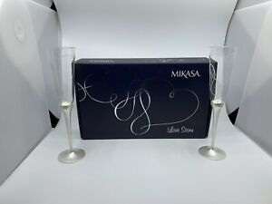 Mikasa Love Story Silver Plated Toasting Flutes $30.00