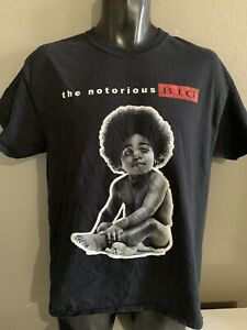 The Notorious BIG Mens Black Graphlc T Shirt baby Size Large