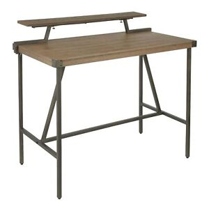 LumiSource Gia Brown Bamboo Top Counter Table Antique Legs MSRP $350.00 $335.99