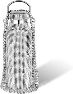 Rhinestone Water Bottle Bling High Quality Stainless Steel Thermal Bottle 500ml $55.00