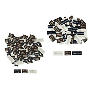 120Pcs Handmade Labels Sew on Tags Heart Pattern DIY Sewing Jeans Bags Craft $6.96