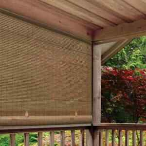 CORDLESS ROLL UP BLIND Outdoor Sun Shade Deck Patio PVC Manual Roll Up Exterior $59.31