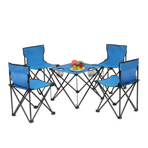 Oxford Cloth Steel Camping Folding Table and Chair Set Portable tables amp; chairs $62.69