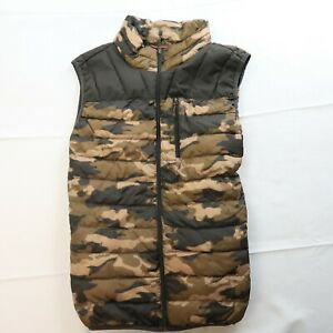 Hawke amp; Co Sport Size Large Performance Duck Down Camo Vest Full Zip