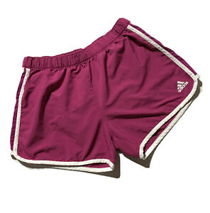 Adidas Running Shorts Womens Climalite Built in Brief Pink 3 Stripes $9.60
