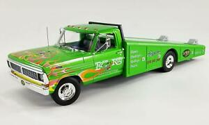 New Acme 1:18 Scale 1970 Ford F 350 Ramp Truck Rat Fink Green A1801414