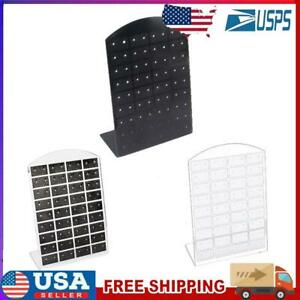 72 Holes Earrings Ear Studs Jewelry Display Rack Stand Organizer Case Holder Box $7.13