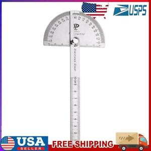 Stainless Steel 180 degree Protractor Angle Finder Rotary Measuring Ruler $8.54