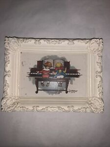 The Wee Musicians Wall Picture Ornate Frames Vintage Children#x27;s Wall Decor $6.99